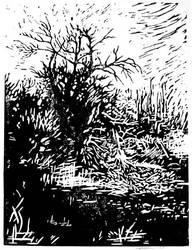 dead tree by weremoon