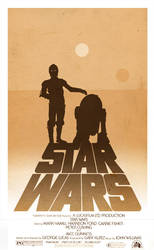 Star Wars A New Hope Minimalist Alternative Poster by 3ftDeep