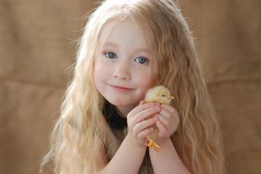 Little girl with chicken_3 by anastasiya-landa