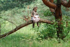 In the woods with a rabbit (2) by anastasiya-landa