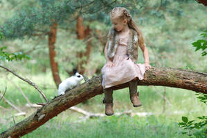 In the woods with a rabbit (4) by anastasiya-landa