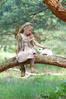 In the woods with a rabbit (9) by anastasiya-landa