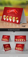 Horizontal Paper Table Tent Mock-up Template Vol.6 by Itembridge