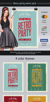 Retro Party Event Pack by Itembridge