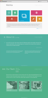 Metrika Responsive OnePage WordPress Theme by Itembridge