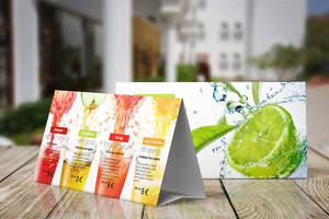 Table Tent Mock-up Template by Itembridge