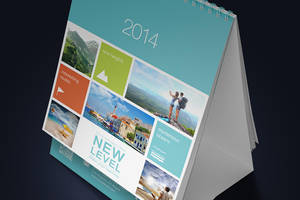 Desk Calendar Mock-Up (13cm x 10cm) by Itembridge