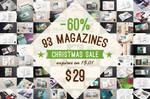 Magazine Mock-ups Pack Christmas Sale by Itembridge