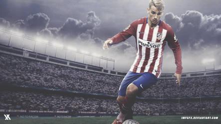 Antoine Griezmann - Atletico Madrid 2016 Wallpaper by imfGFX