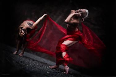 Red dancers by DirkBee