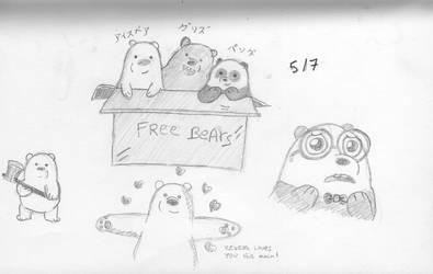 Random Bears Sketch by mediocrart