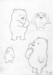Baby Icebear Sketch by mediocrart