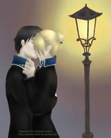 Royai - Nighttime kiss by Werehorse89