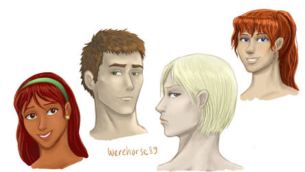 FMA oc sketches 2 by Werehorse89