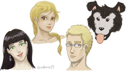 FMA oc sketches 3 by Werehorse89