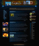 Webdesign - 'The Far Wilds' by CybertronicStudios