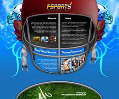 Webdesign - 'Fantasy Sports' by CybertronicStudios