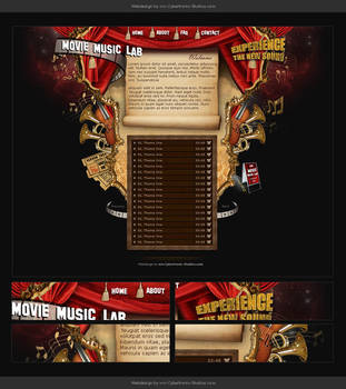 Webdesign - Movie Music Lab by CybertronicStudios