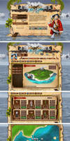 Webdesign - 'Pirates Arena' by CybertronicStudios