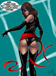 Ms Marvel in original Ms Marvel costume by ashion