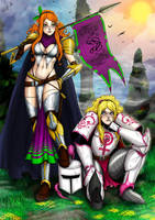 Vivian and Lillian Armored Up by ashion