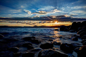 Tahoe Summer Evening by sellsworth