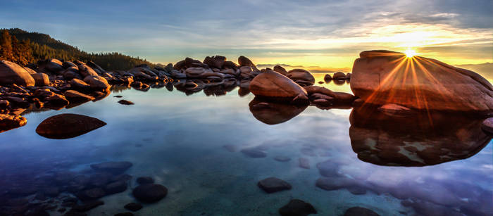 A Most Peaceful Monday Evening at Tahoe by sellsworth
