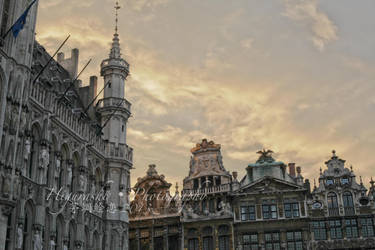 Grande Place at Sunset by theredviper