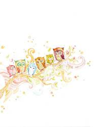 little owls all in a row by alizarin