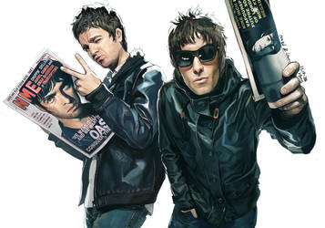 Noel And Liam Gallagher by hoo0