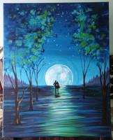 Moonlit Stroll by Salix-Tree