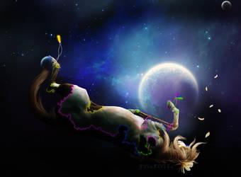 i cut the moon in half. by TayaRavena
