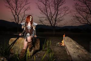 Skyrim - Aela The Huntress III by fiathriel