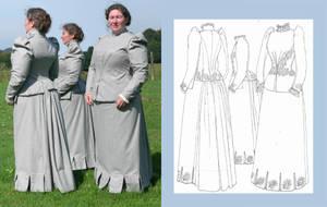 1890 Walking Dress by Janes-Wardrobe