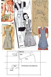 1940s pinny instructions by Janes-Wardrobe