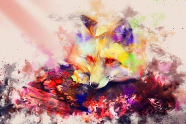 Colorful Fox! by 0l-Fox-l0