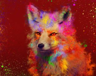 -- Again a Colorful fox -- by 0l-Fox-l0