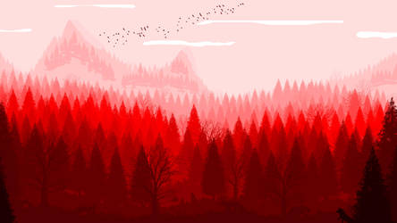 -- Red Nature -- by 0l-Fox-l0