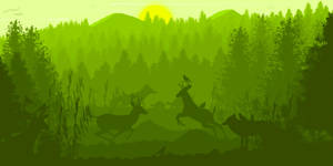 -- Life in a green forest -- by 0l-Fox-l0