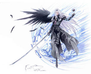 Sephiroth and the Comet by Nick-Ian