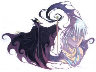 Kingdom Hearts Maleficent And Riku by Nick-Ian