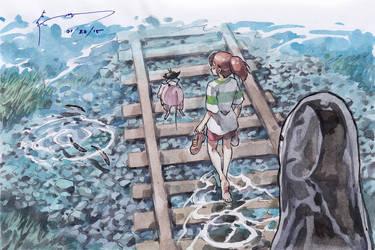 Spirited Away - Walking Towards the Train Station by Nick-Ian