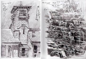Zamboanga City: Merloquet Falls and City Hall by Nick-Ian