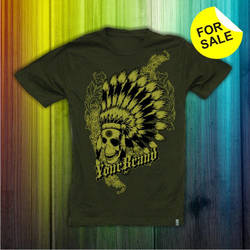 FOR SALE DESIGN - INDIAN SKULL by irpunk