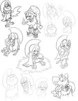 Hey, More Chatot Sketches by shadenightfox