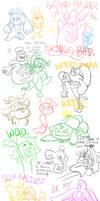 PMD Sketching Conquest by shadenightfox