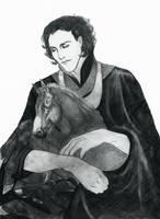 Loki and Sleipnir by icagic