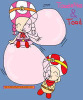 Toad and Toadette 3 by BrittanyKitty2010