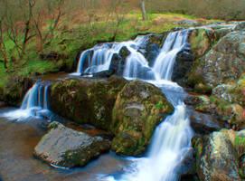 Pistyll Rhaeadr Waterfall - top falls by TazPoltorak