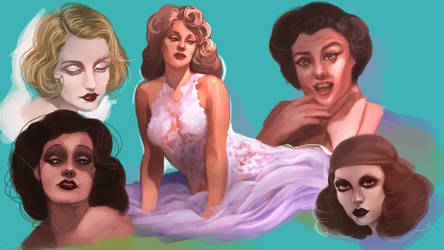 Vintage Women Practice by Nidhogge